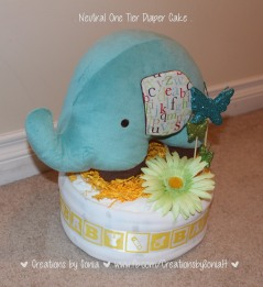 Elephant Neutral Diaper Cake! by Creations by Sonia @creationsbysh