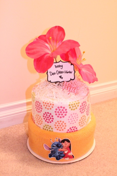 Lilo & Stitch Diaper Cake by Creations by Sonia... find more at www.creationsbysonia.ca