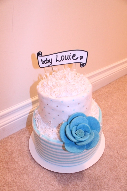 All Blue Baby Boy Diaper Cake by Creations by Sonia... find more at www.creationsbysonia.ca
