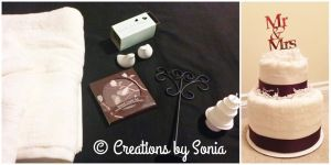 Towel Cake exclusively made by © Creations by Sonia! www.creationsbysonia.wordpress.com