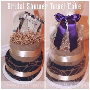 Bridal Shower Towel Cake by © Creations by Sonia - www.creationsbysonia.wordpress.com