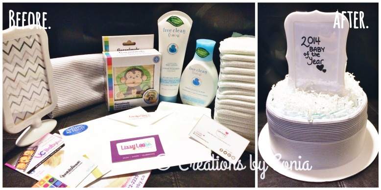 Before & After - TC Diaper Cake