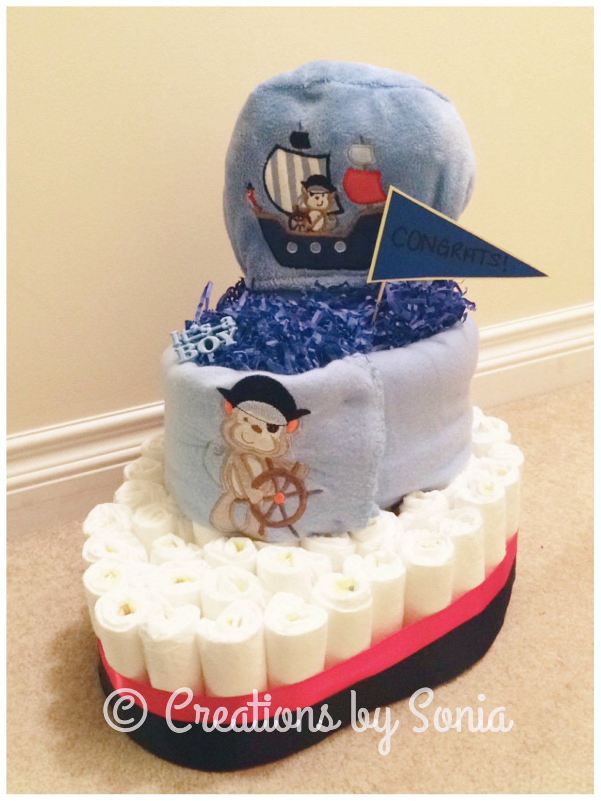 boat cake diapers diapercake victoria vancouver bc baby shower