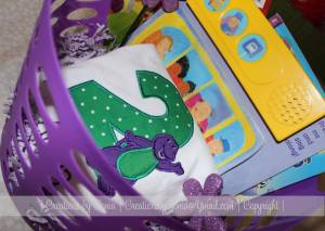 Barney Toddler Gift Basket by Creations by Sonia @creationsbysh