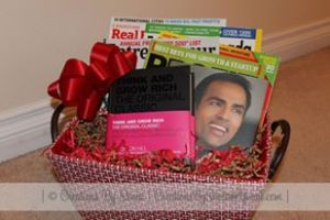 Books Gift Basket for Husband by Creations by Sonia @creationsbysh