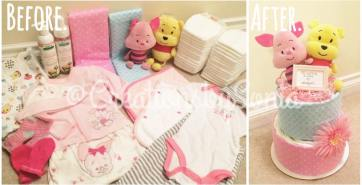 Winnie the Pooh Diaper Cake for baby Rihanna! by Creations by Sonia @creationsbysh