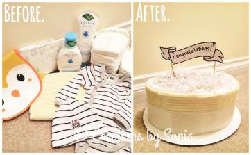 Neutral Diaper Cake by Creations by Sonia @creationsbysh