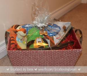 Dog Gift Basket by Creations by Sonia
