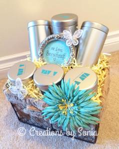 Wedding Gift Basket for Bride & Groom by Creations by Sonia @creationsbysh