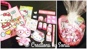 Hello Kitty Gift Basket by Creations by Sonia