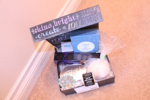 All Things Pamper Gift Box - Creations by Sonia { www.creationsbysonia.ca }