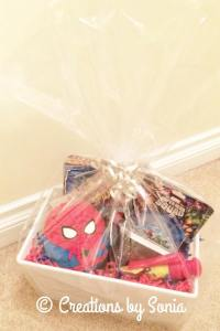 Spiderman Gift Basket for Boy by Creations by Sonia @creationsbysh