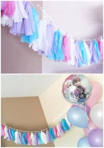 Frozen Birthday Party - Tassel Banner {ww.creationsbysonia.ca}