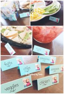 Frozen Birthday Party - Custom Food Tags - {www.creationsbysonia.ca}
