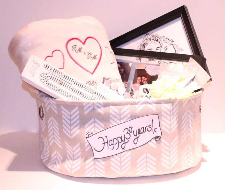 30 Yr Anniversary Gift Basket by Creations by Sonia.. find more at www.creationsbysonia.ca