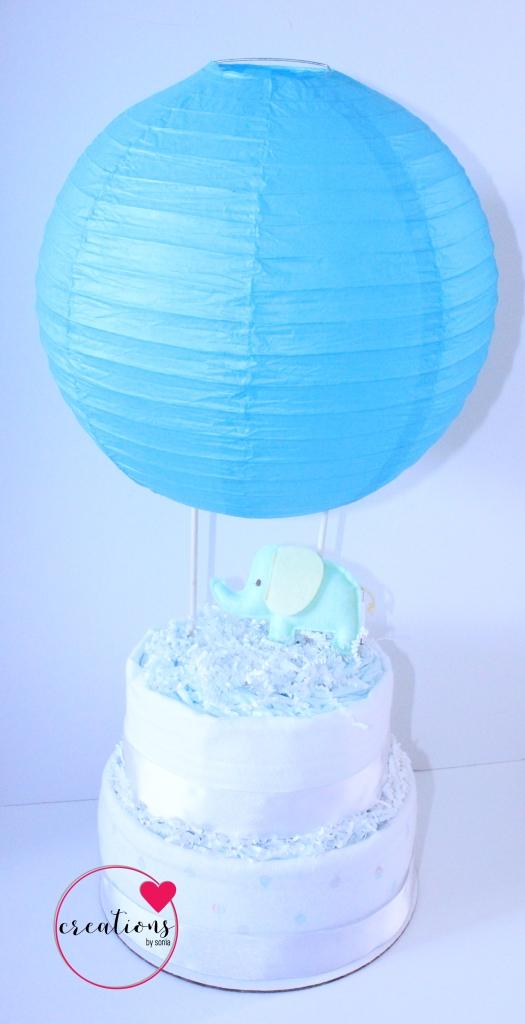Creations by Sonia : Hot Air Balloon Diaper Cake
